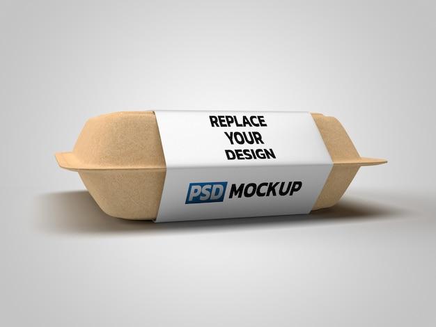 Renderização 3d de maquete de caixa de papel