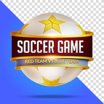 Renderização 3d de maquete de jogo de futebol isolada