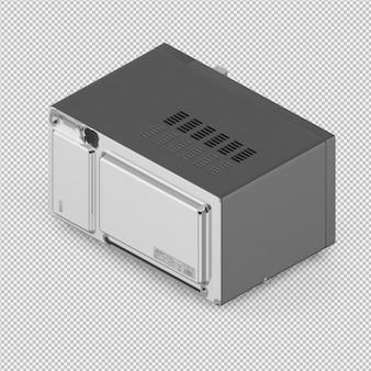 Renderização 3d de microondas isométrica
