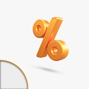 Renderização 3d de número dourado metálico