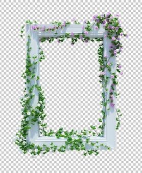 Renderização 3d de plantas de hera isoladas
