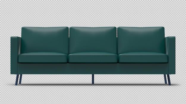 Renderização 3d de sofá isolado