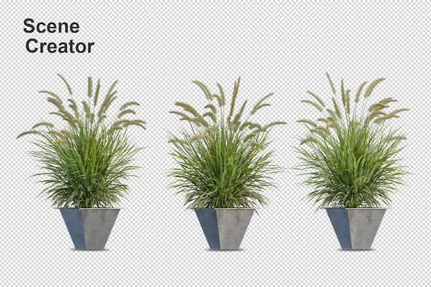 Renderização 3d de várias formas e tipos de árvores