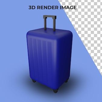 Renderização 3d de viagem de mala