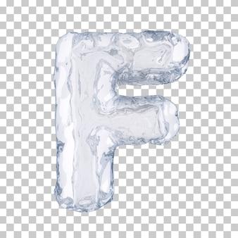 Renderização 3d do alfabeto de gelo f