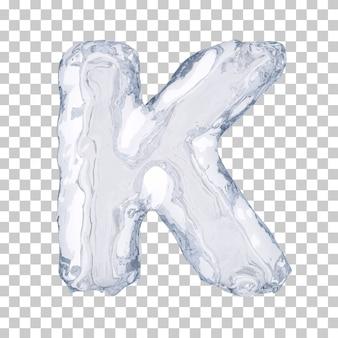 Renderização 3d do alfabeto de gelo k