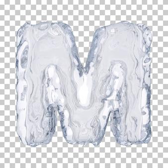 Renderização 3d do alfabeto de gelo m
