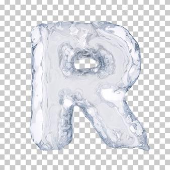 Renderização 3d do alfabeto de gelo r
