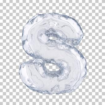 Renderização 3d do alfabeto de gelo s