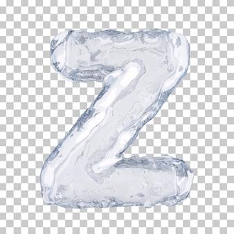 Renderização 3d do alfabeto de gelo z