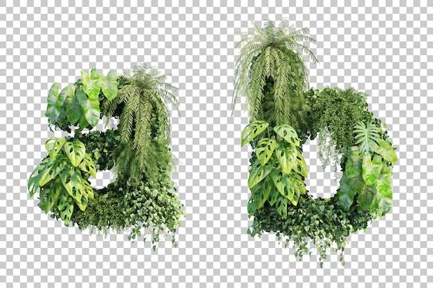 Renderização 3d do alfabeto vertical do jardim ae alfabeto b