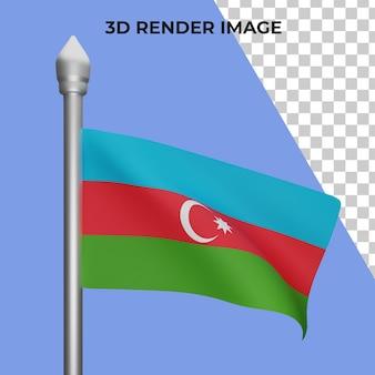 Renderização 3d do conceito da bandeira do azerbaijão do dia nacional do azerbaijão premium psd