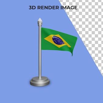 Renderização 3d do conceito da bandeira do brasil dia nacional do brasil