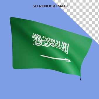 Renderização 3d do conceito de bandeira da arábia saudita dia nacional da arábia saudita premium psd