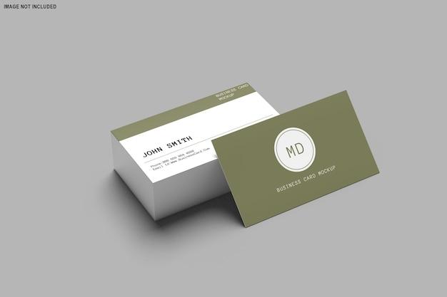Renderização 3d do design da maquete do cartão de visita