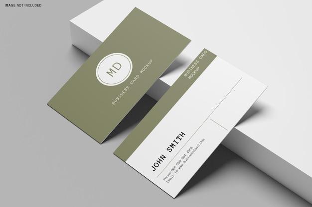 Renderização 3d do design da maquete do cartão de visita Psd Premium