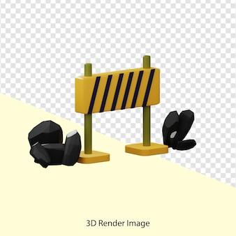 Renderização 3d do divisor de estradas