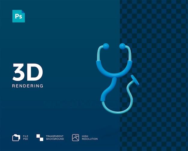 Renderização 3d do estetoscópio isolada Psd Premium