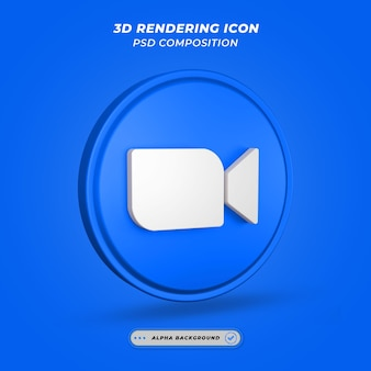 Renderização 3d do ícone de mídia social do messenger