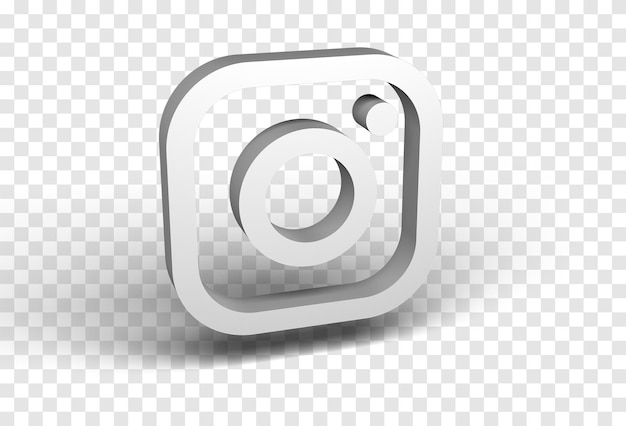 Renderização 3d do ícone do instagram