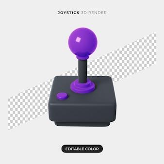 Renderização 3d do ícone do joystick isolada