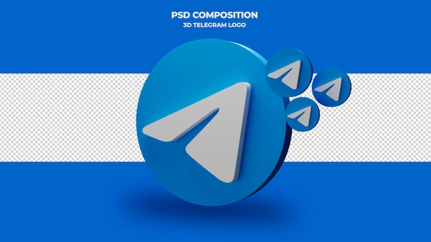 Renderização 3d do ícone do telegrama isolada