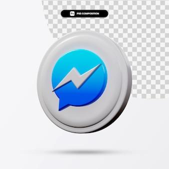 Renderização 3d do logotipo do aplicativo isolado