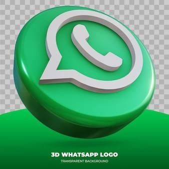 Renderização 3d do logotipo do whatsapp isolado