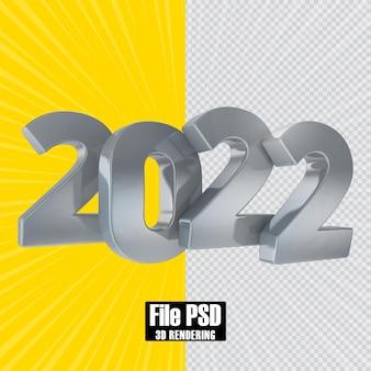 Renderização 3d do número do texto 2022