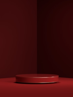 renderização 3d do pódio de forma geométrica de cena abstrata para exibição de produto