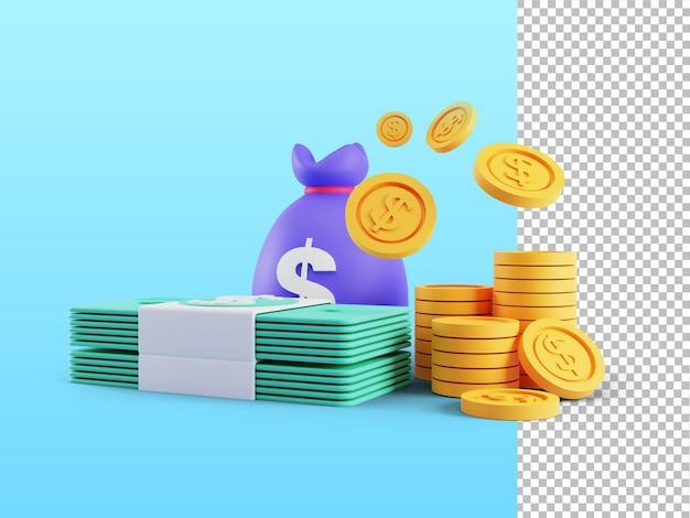 Renderização 3d do programa de fidelidade do conceito earn point e obter recompensas