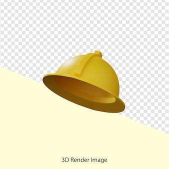 Renderização 3d do projeto de capacete