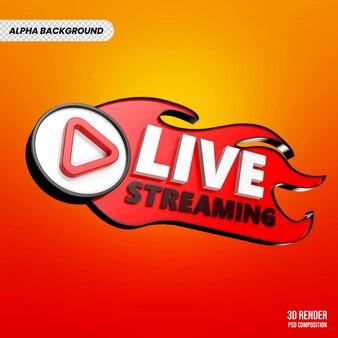 Renderização 3d do youtube live streaming