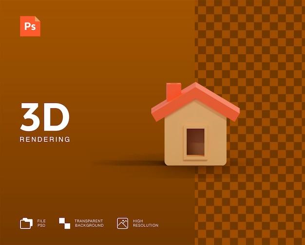 Renderização 3d doméstica isolada