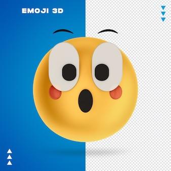 Renderização 3d emoji 3d isolada