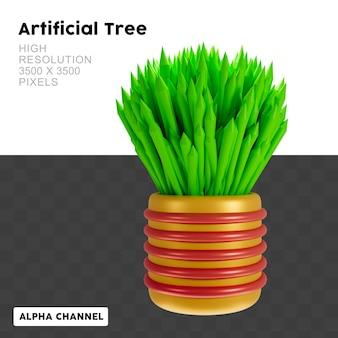 Renderização 3d grass in pot
