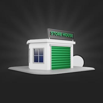 Renderização 3d green store house