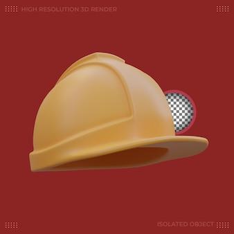 Renderização 3d ilustração do leme amarelo do trabalho
