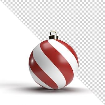 Renderização 3d isolada de bola de natal Psd Premium