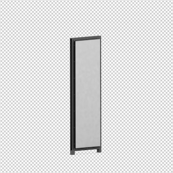 Renderização 3d isométrica de outdoor