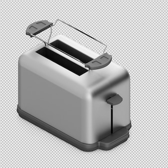 Renderização 3d isométrica torradeira