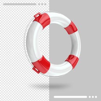 Renderização 3d lifebuoy isolada