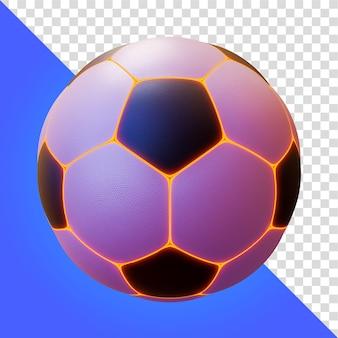 Renderização 3d light line soccer ball