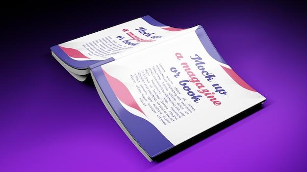 Renderização 3d para capa de livro de modelo