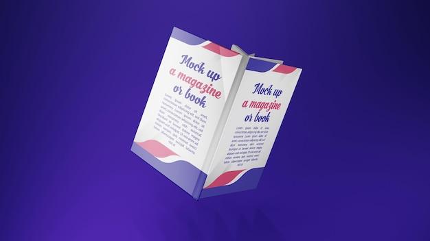 Renderização 3d para capa de livro maquete voadora
