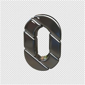 Renderização 3d prata número isolada