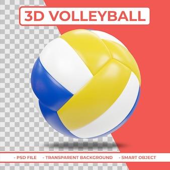 Renderização 3d realista de volleyball 3d isolada