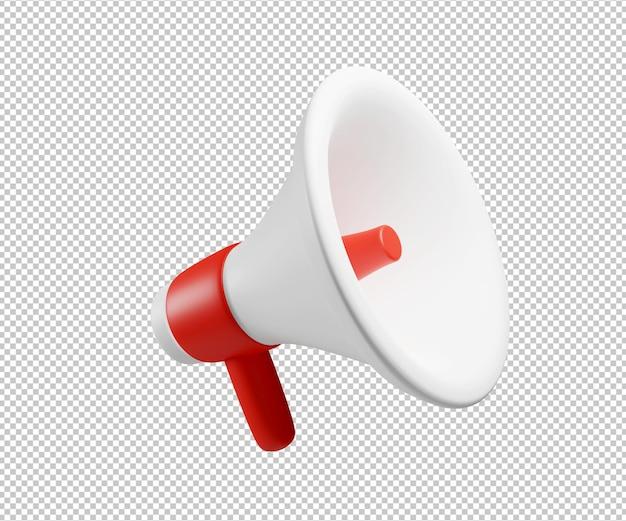 Renderização da ilustração 3d do alto-falante do punho