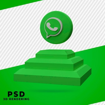 Renderização de caixa de whatsapp 3d