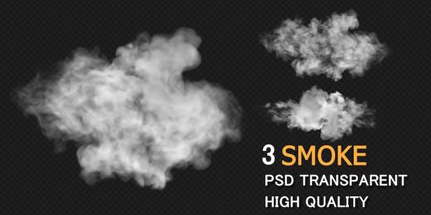 Renderização de desenho de explosão de fumaça, renderização isolada